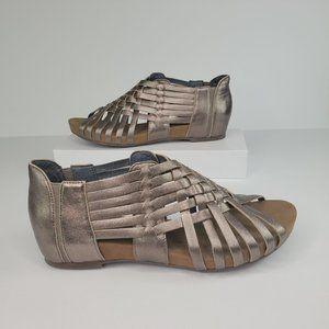 Chocolate Blu Silver Bronze Viva Woven Shoe, 8.5